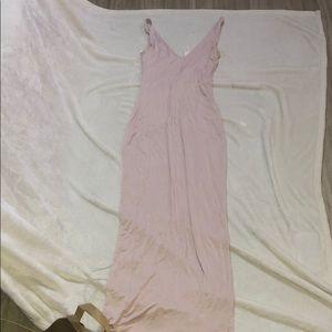 NWT Baby pink maxi dress